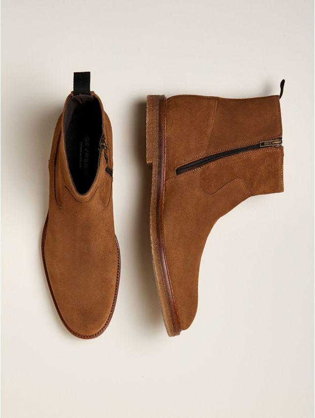 Boots homme en croûte de cuir