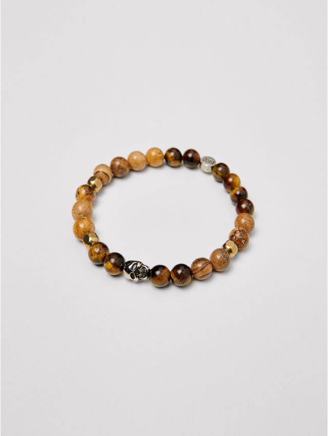 Bracelet homme en perles