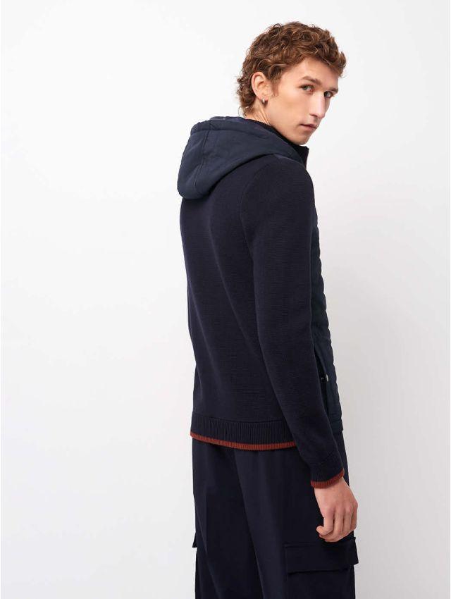 Cardigan à capuche en coton
