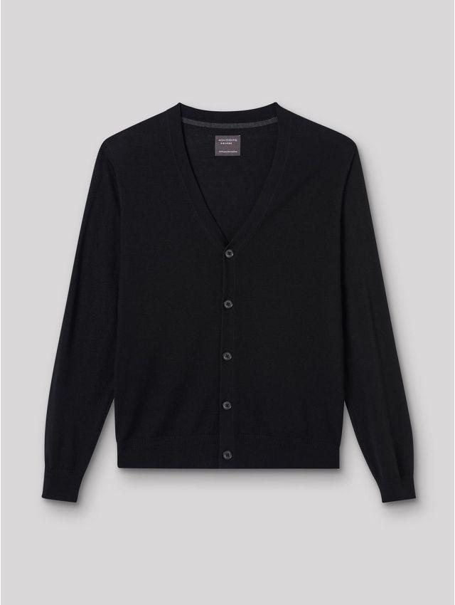 Cardigan boutonné en laine mérinos