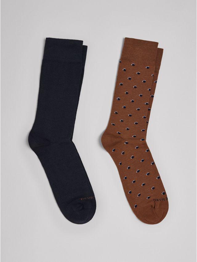 Chaussettes homme à pois