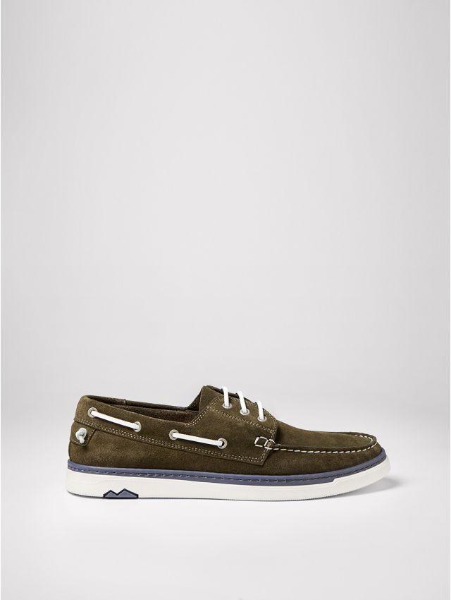 Chaussures bateau homme en cuir