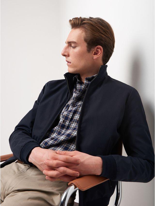 Chemise extraslim à carreaux