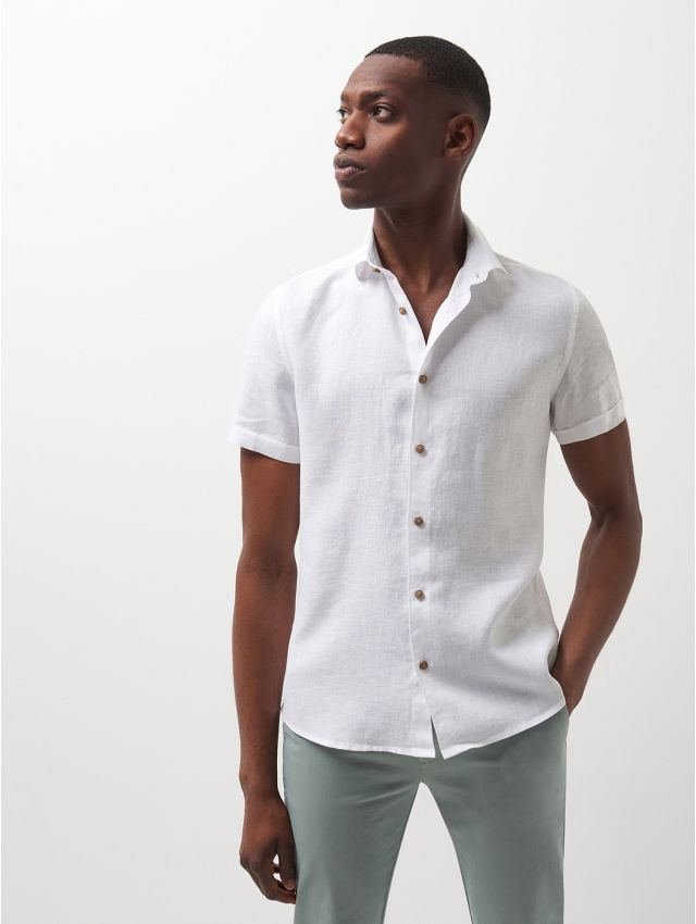 Chemise  casual unie manches courtes