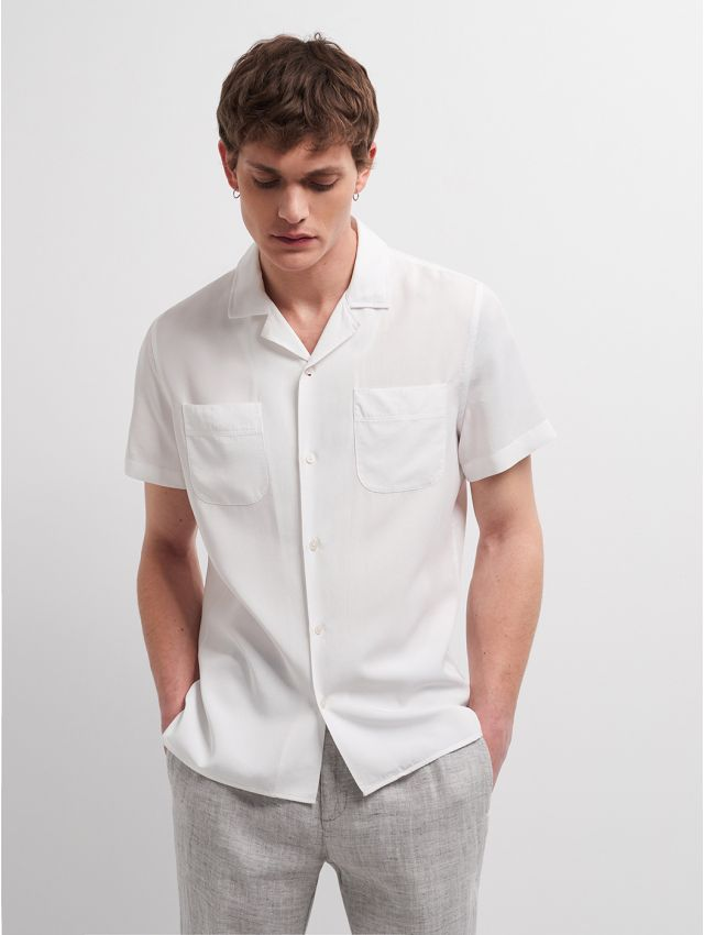 Chemise manches courtes casual unie