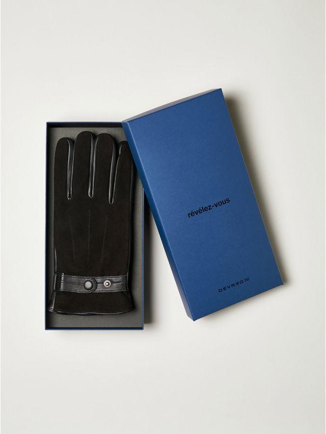 Coffret gants homme en cuir
