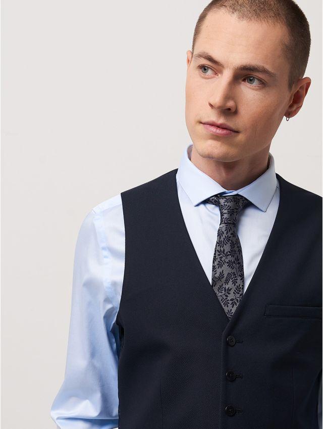 Cravate homme motif feuillage