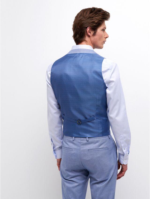 Gilet de costume faux uni bleu/blanc
