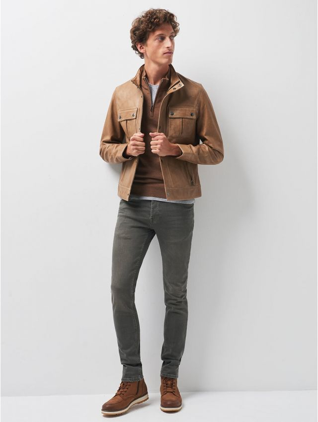 Jean couleur slim en coton élasthane