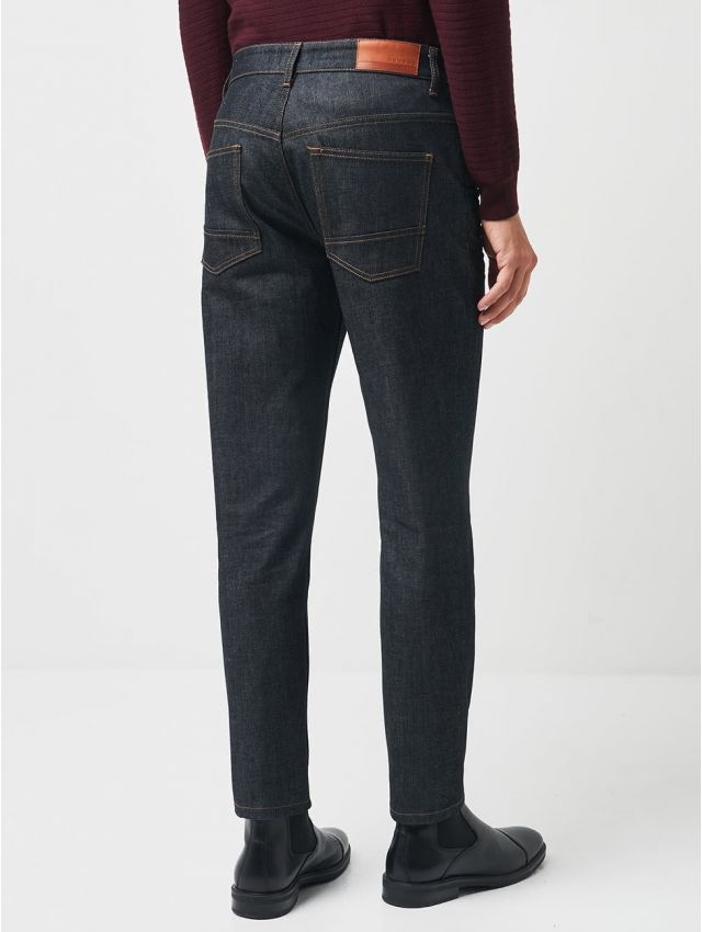 Jean relaxed fit en coton élasthane