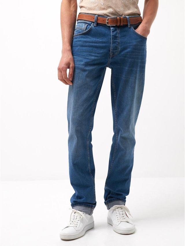 Jean slim en coton élasthane délavé