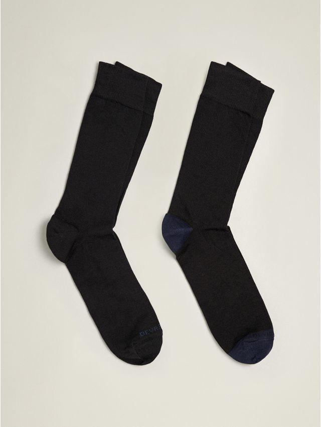 Lot 2 paires de chaussettes homme unies