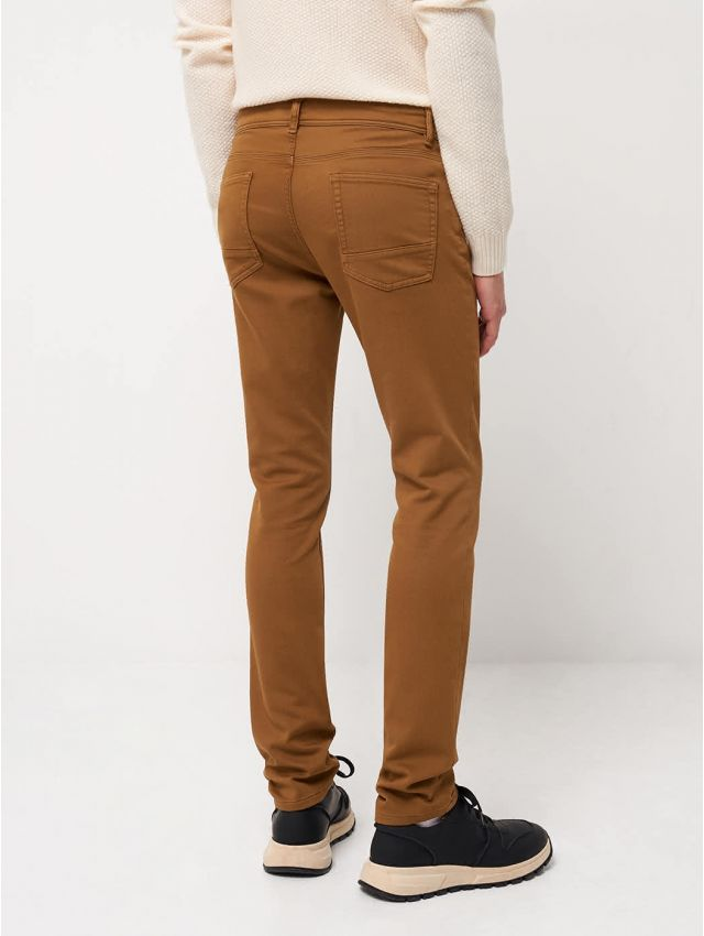 Pantalon 5 poches homme uni