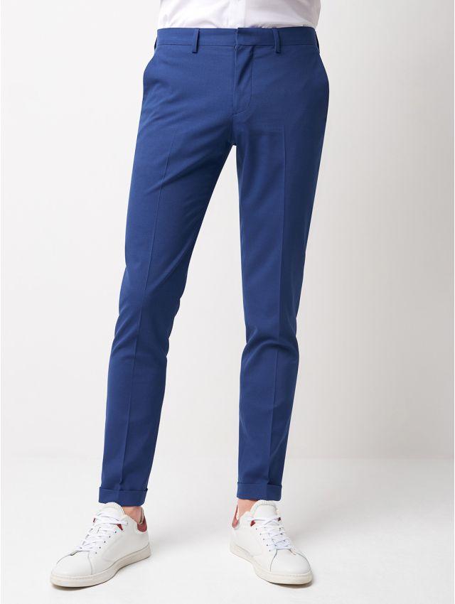 Pantalon de costume bleu lumineux
