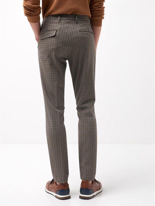 Pantalon coordonnable slim à carreaux