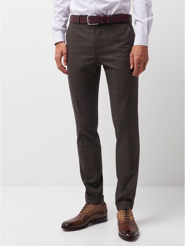 Pantalon coordonnable xslim à carreaux