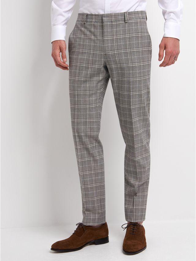 Pantalon de costume à carreaux