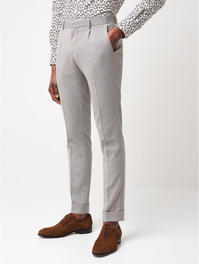 Pantalon de costume humus micro-motifs