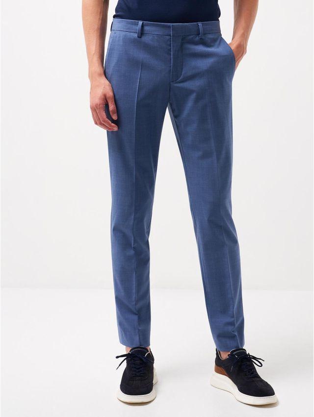 Pantalon extraslim stretch laine 120's