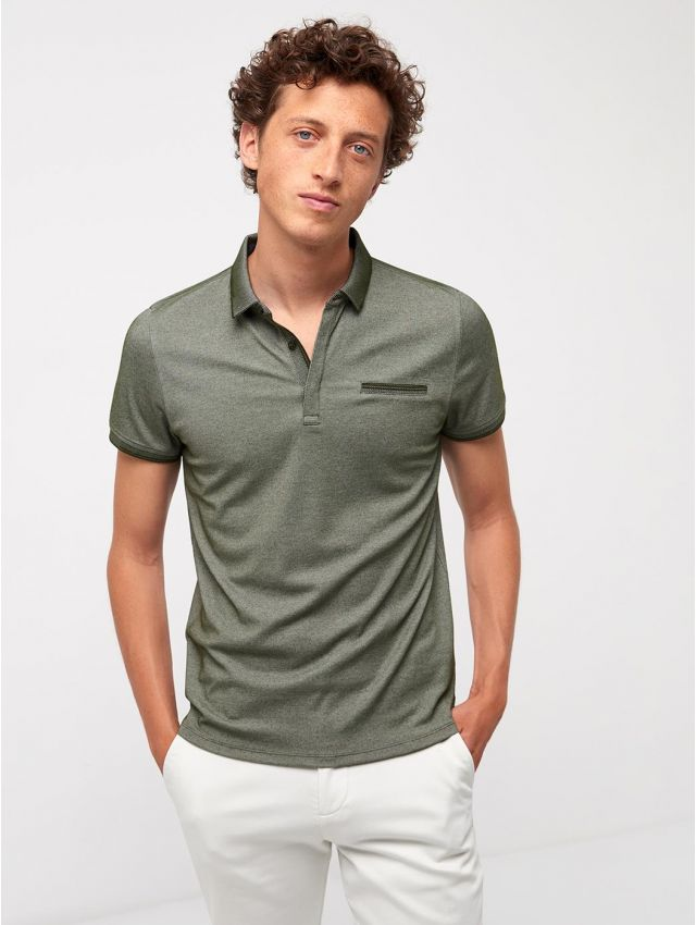 Polo en Coton majoritaire bi-color
