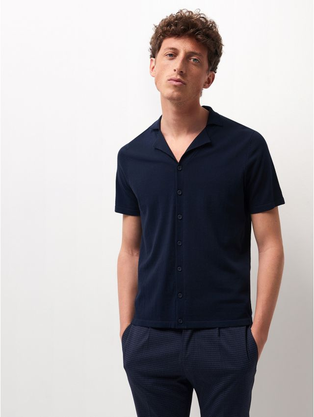 Polo maille homme boutonné