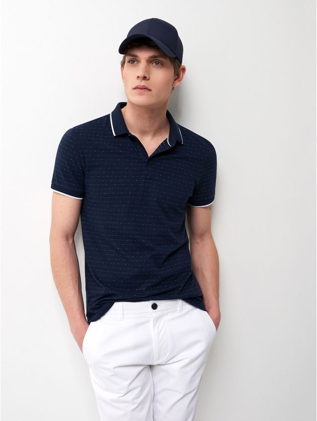 Polo manches courtes maille fine