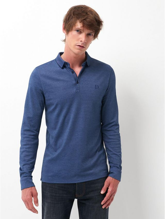 Polo manches longues homme basic
