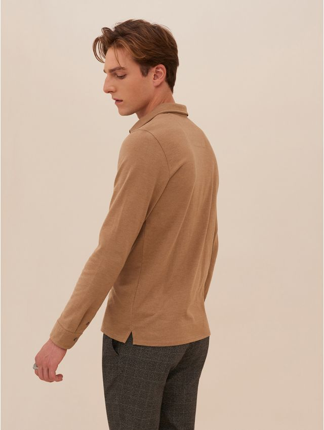 Polo manches longues homme casual