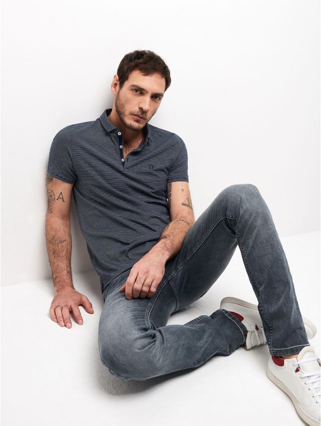 POLO MC MAILLE FINE HOMME