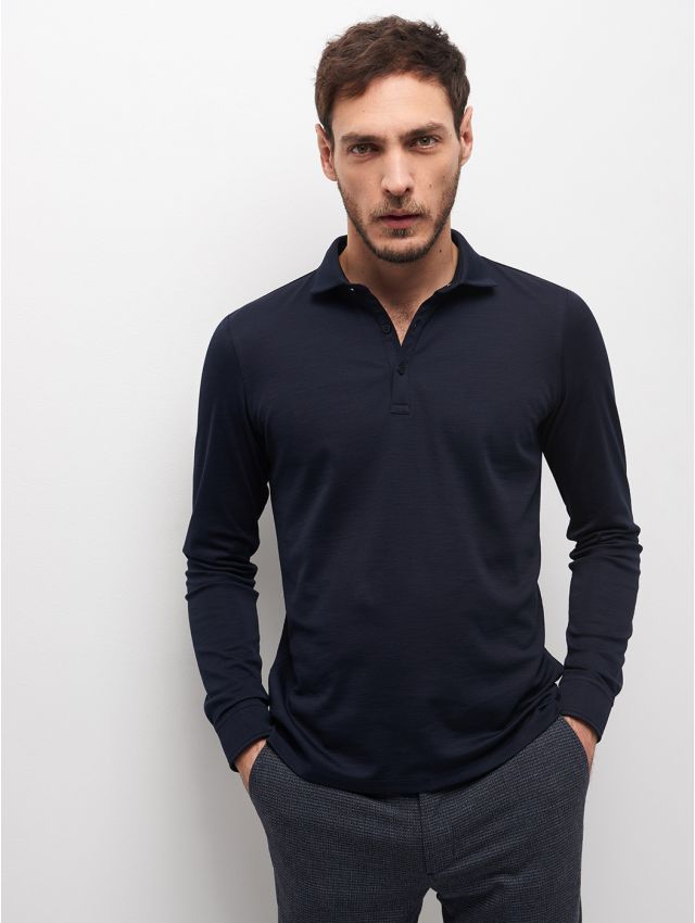 POLO ML MAILLE FINE HOMME