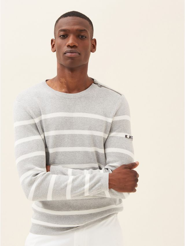 Pull homme à rayures