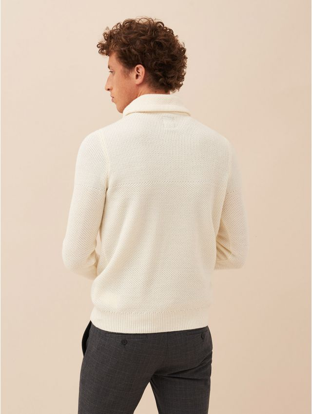 Pull homme casual col boule