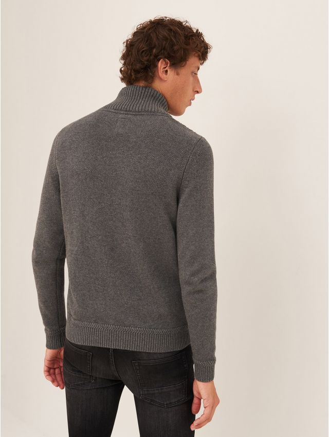 Pull homme casual col châle