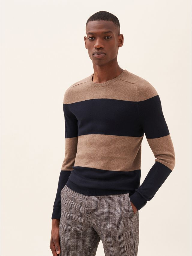 Pull homme casual rayé