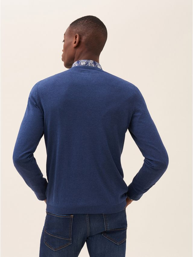 Pull homme ville col rond