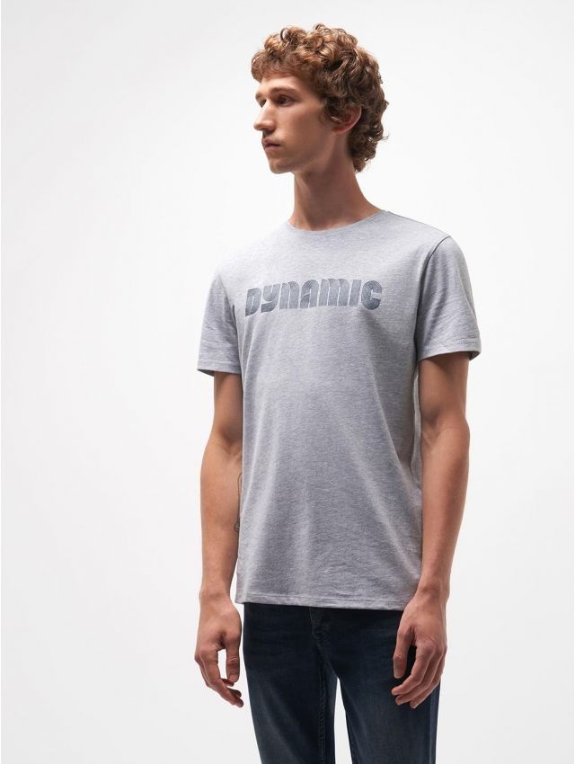 Tee shirt col rond à motif placé devant