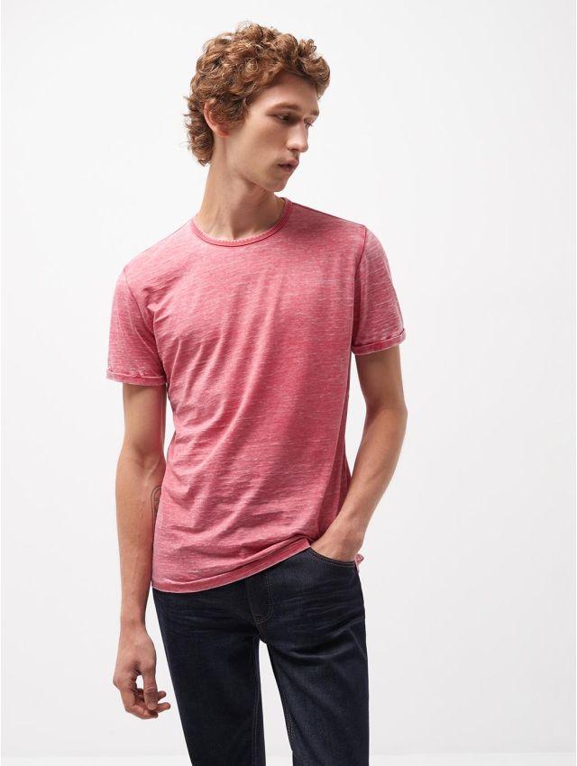 Tee shirt col rond uni délavé