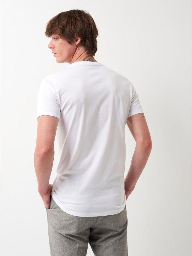 Tee shirt en coton à motif placé devant