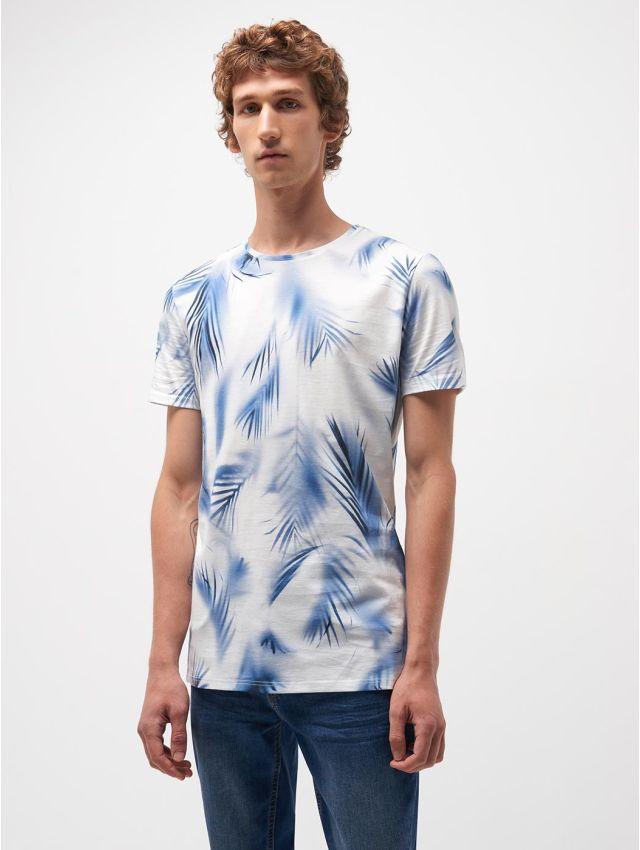 Tee shirt en coton imprimé