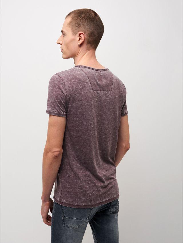 Tee shirt col rond uni chiné