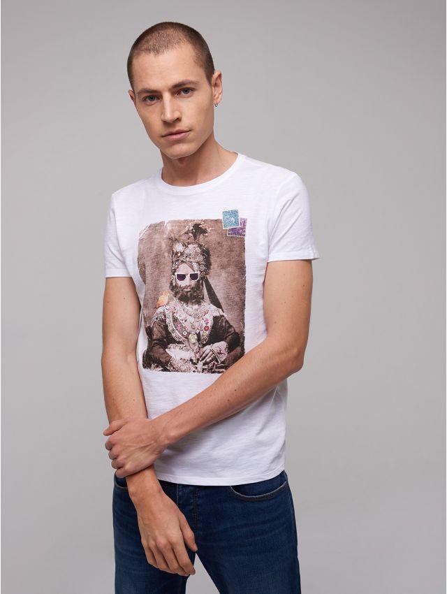 Tee shirt en Coton imprimé maharaja