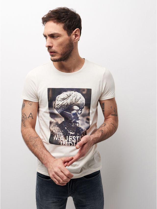 Tee shirt en coton imprimé oriental