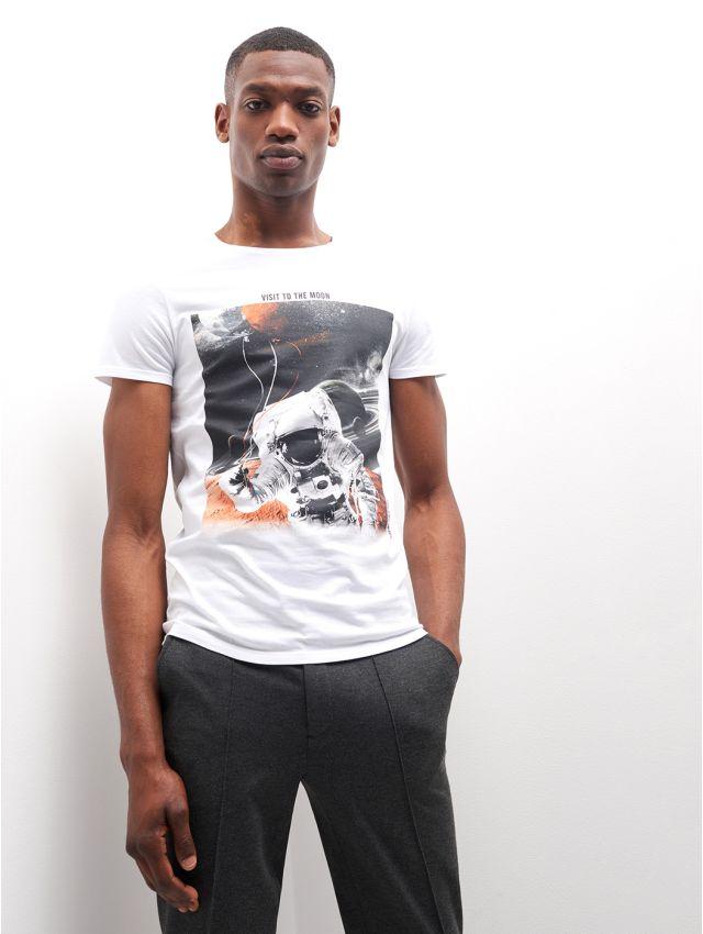 Tee shirt en Coton imprimé astronaute