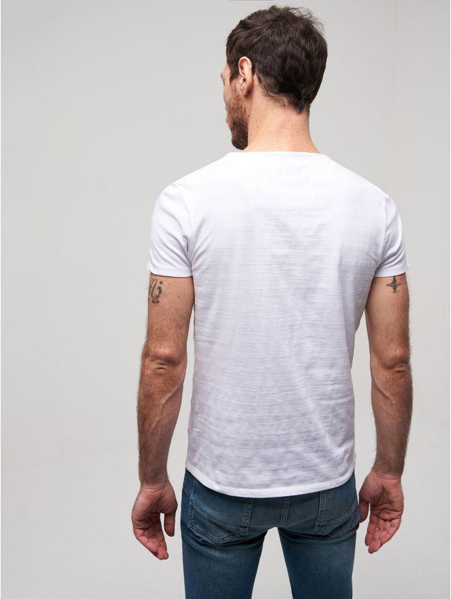 Tee shirt col goutte en Coton uni