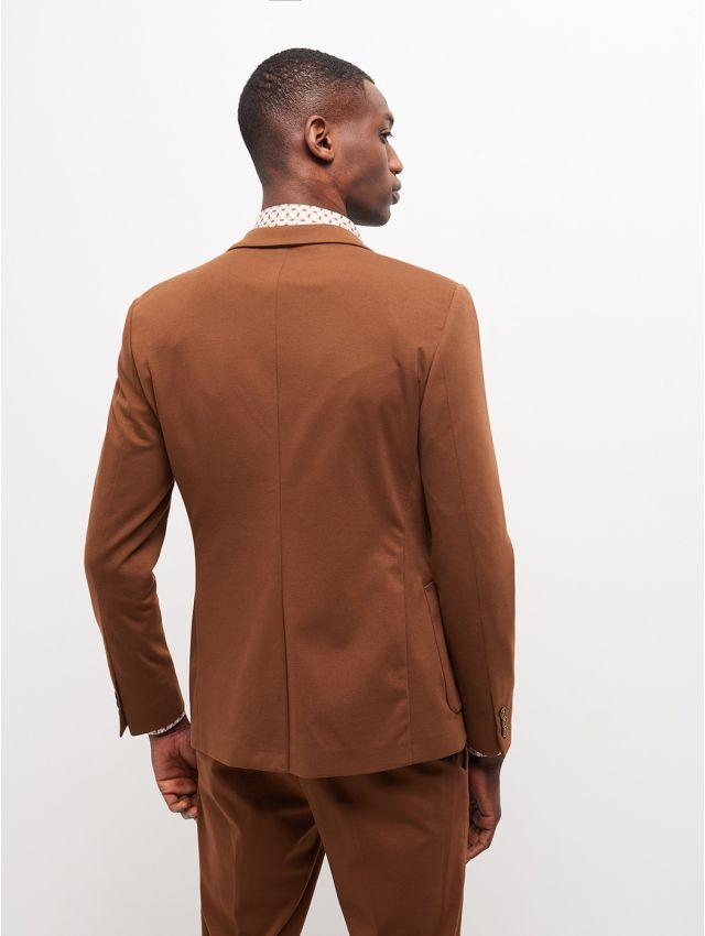 Veste de costume camel stretch, confort