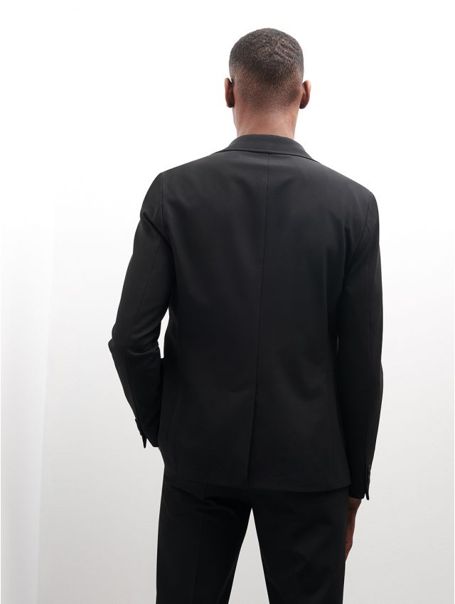 Veste de costume noire stretch, confort