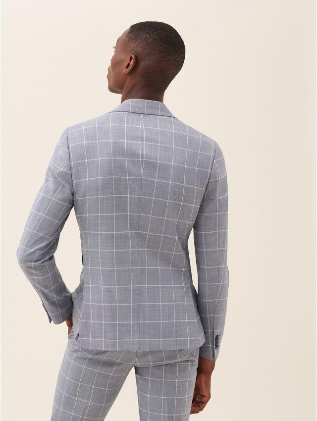 Veste de costume bleu à carreaux