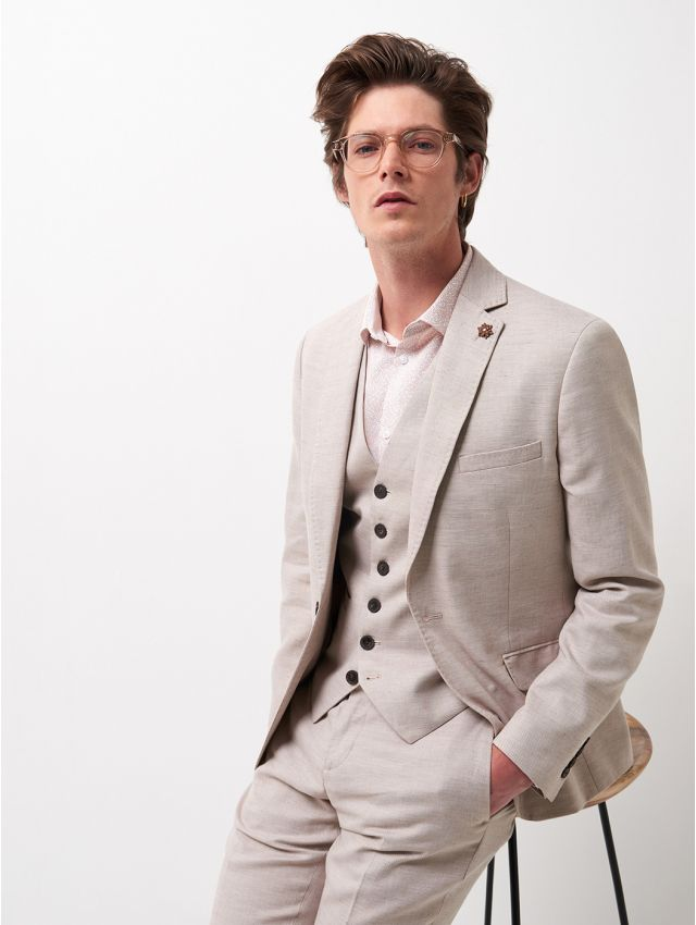 Veste de costume coton & lin