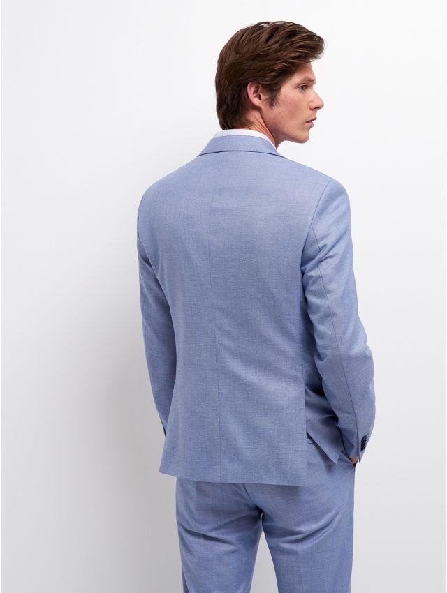 Veste de costume faux uni bleu/blanc