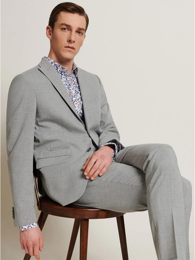 Veste de costume faux uni gris